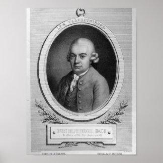 Portrait of Karl Philipp Emmanuel Bach Poster