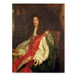 Portrait of King Charles II, c.1660-65 Postcard