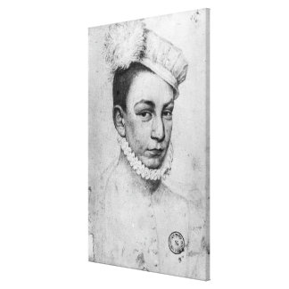 Portrait of King Charles IX of France, 1561 Canvas Print
