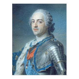 Portrait of King Louis XV  1748 Postcard