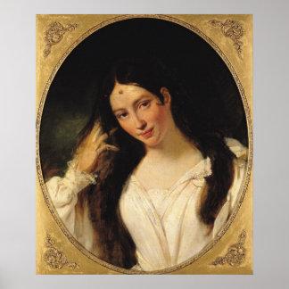 Portrait of 'La Malibran' Poster