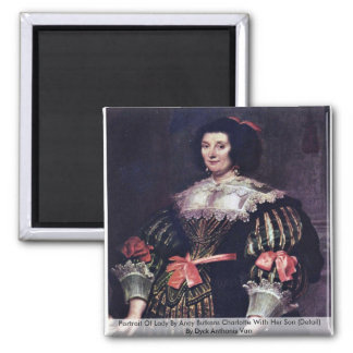 Portrait Of Lady By Anoy Butkens Charlotte Magnet