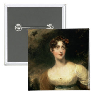 Portrait of Lady Emily Harriet Wellesley-Pole 2 Inch Square Button