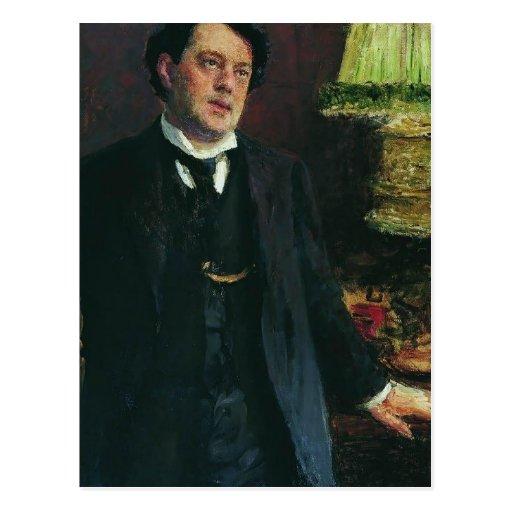Portrait of lawyer Oskar Grusenberg by Ilya Repin Post Cards