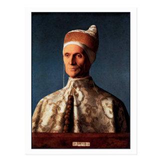 Portrait of Leonardo Loredan by Giovanni Bellini Postcard