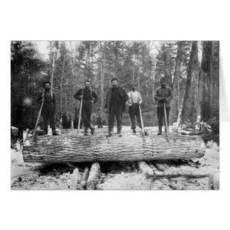 Portrait of Loggers, 1890 Card