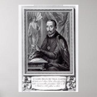 Portrait of Lope Felix de Vega Carpio Poster