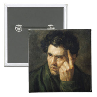 Portrait of Lord Byron 2 Inch Square Button