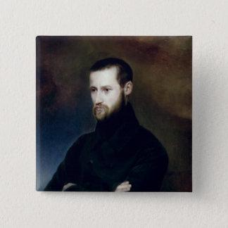 Portrait of Louis-Auguste Blanqui  c.1835 2 Inch Square Button