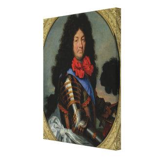 Portrait of Louis XIV Canvas Print