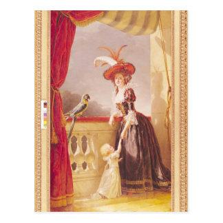 Portrait of Louise-Elisabeth de France and her Postcard