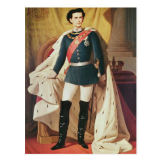 Portrait of Ludwig II of Bavaria in uniform Postcard