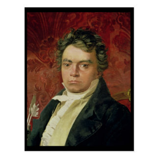 Portrait of Ludwig Van Beethoven Postcard