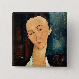 Portrait of Lunia Czechowska, 1918 2 Inch Square Button