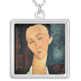 Portrait of Lunia Czechowska, 1918 Silver Plated Necklace