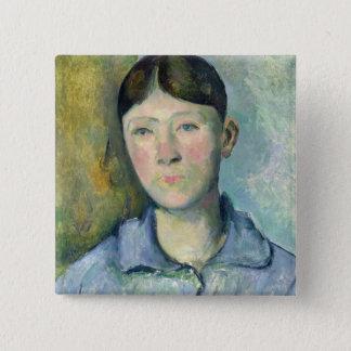 Portrait of Madame Cezanne, 1885-90 2 Inch Square Button