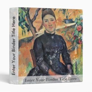Portrait Of Madame Cezanne In The Greenhouse Vinyl Binder