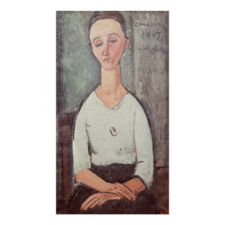 Portrait of Madame Chakowska, 1917 Print