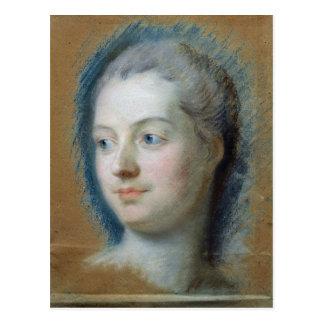 Portrait of Madame de Pompadour  1752 Postcard