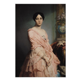Portrait of Madame F, 1850-51 Poster