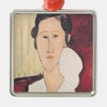 Portrait of Madame Hanka Zborowska, 1917 Metal Ornament