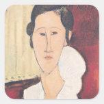 Portrait of Madame Hanka Zborowska, 1917 Square Sticker