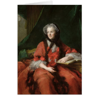 Portrait of Madame Maria Leszczynska  1748 Card