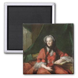 Portrait of Madame Maria Leszczynska  1748 Square Magnet