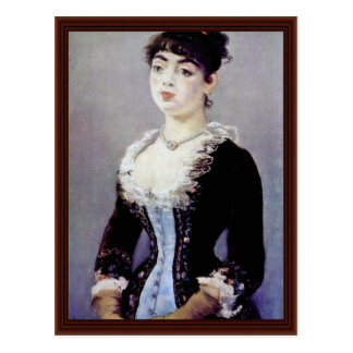 Portrait Of Madame Michel-Levy By Manet Edouard Postcard