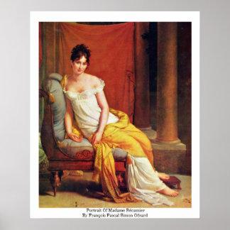 Portrait Of Madame Récamier Poster