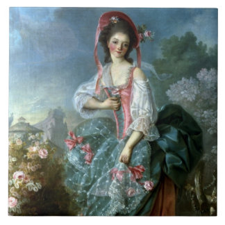 Portrait of Mademoiselle Guimard as Terpsichore, c Tile