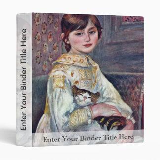 Portrait Of Mademoiselle Julie Manet With Cat Vinyl Binder