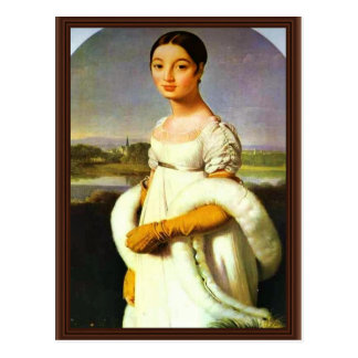 Portrait Of Mademoiselle Riviere By Ingres Jean Au Postcard