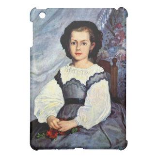 Portrait of Mademoiselle Romaine Lancaux by Renoir iPad Mini Covers