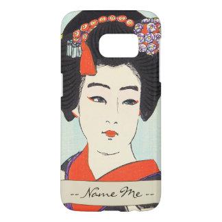 Portrait of Maiko Shunsen Natori japanese fine art Samsung Galaxy S7 Case