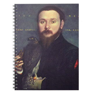 Portrait of Man and Falcon Notebook