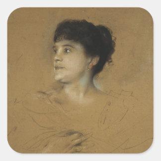 Portrait of Marcella Sembrich, 1891 Square Sticker