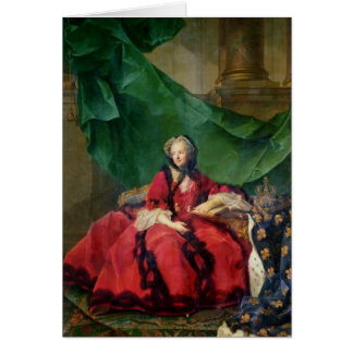 Portrait of Maria Leszczynska  in Daily Dress Card