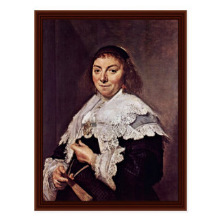 Portrait Of Maria Pietersdr. Olycan By Hals Frans Postcard