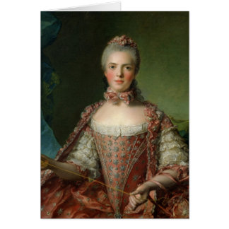 Portrait of Marie Adelaide  1756 Card