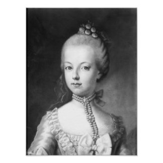 Portrait of Marie-Antoinette  of Habsbourg Poster