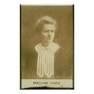 Portrait of Marie Curie Poster