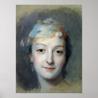 Portrait of Marie Fel  1757 Poster
