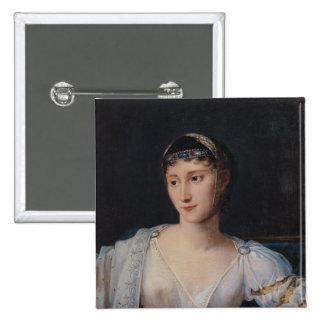 Portrait of Marie-Pauline Bonaparte 2 Inch Square Button