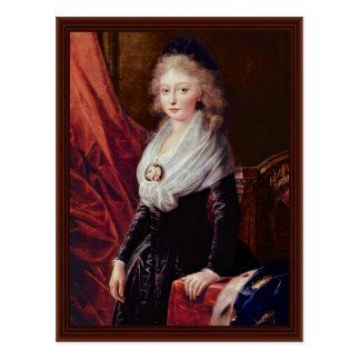 Portrait Of Marie Thérèse De Bourbon Postcard