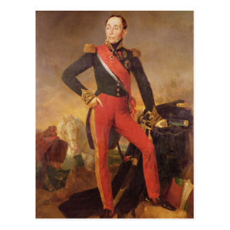 Portrait of Marquis Emmanuel de Grouchy Postcard