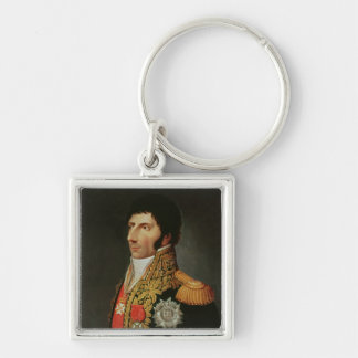 Portrait of Marshal Charles Jean Bernadotte Silver-Colored Square Keychain
