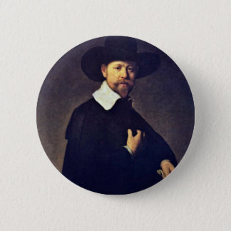 Portrait Of Marten Looten. By Rembrandt Van Rijn 2 Inch Round Button