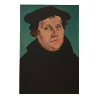 Portrait of Martin Luther, 1529 Wood Prints
