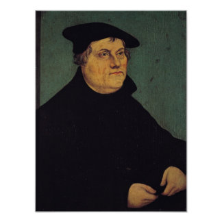 Portrait of Martin Luther  1543 Poster